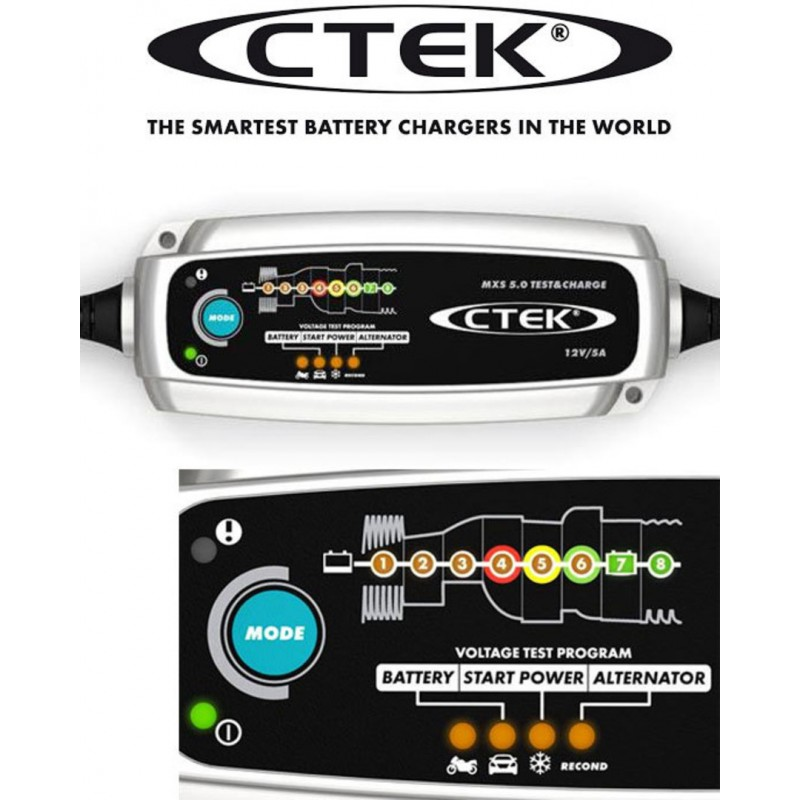Battery charger CTEK MXS 5.0 Test & Charge